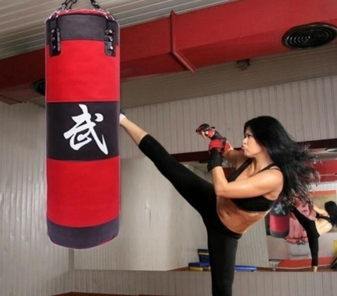 hanging canvas punching bag